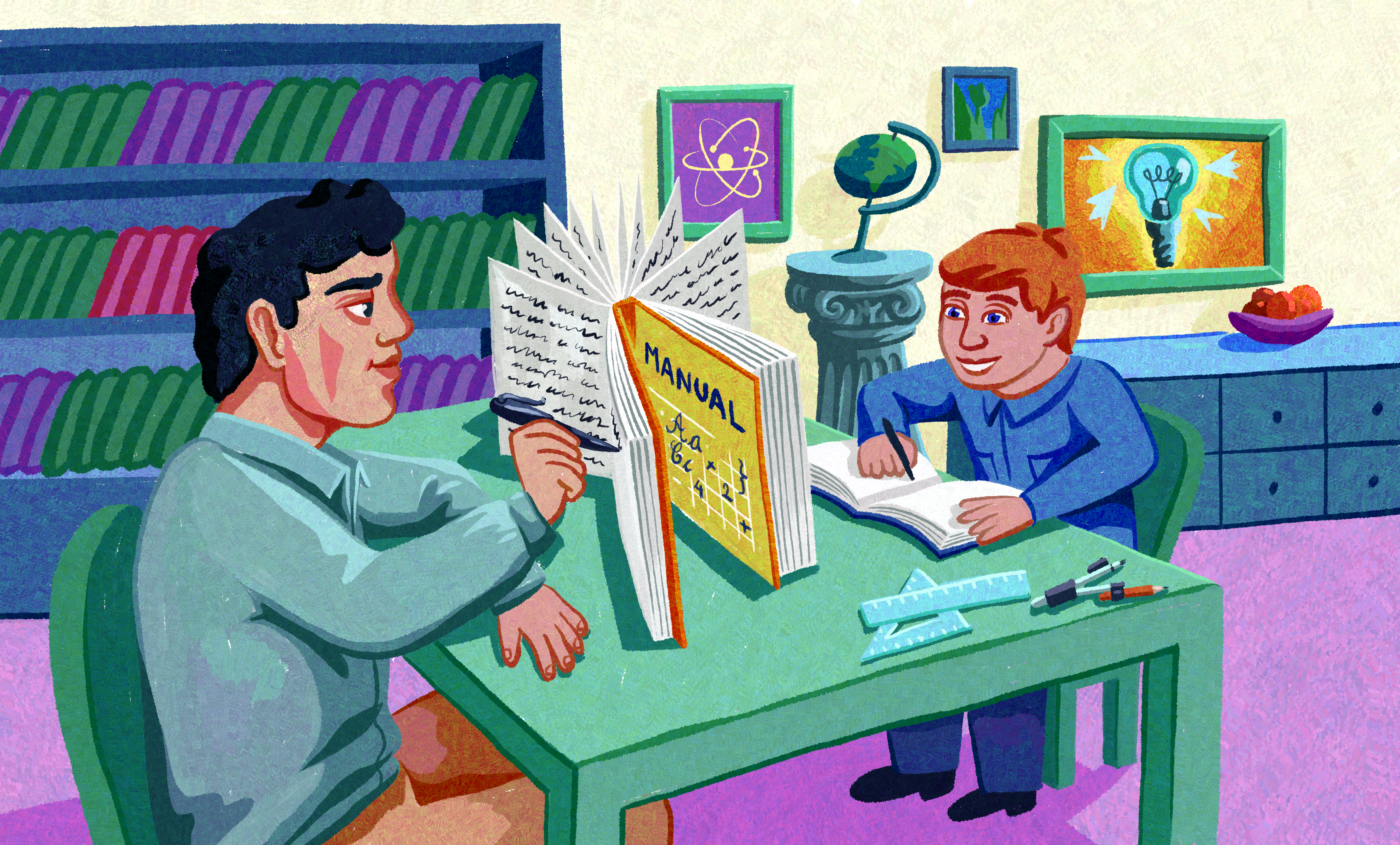 Ilustratie Scriitori de manual