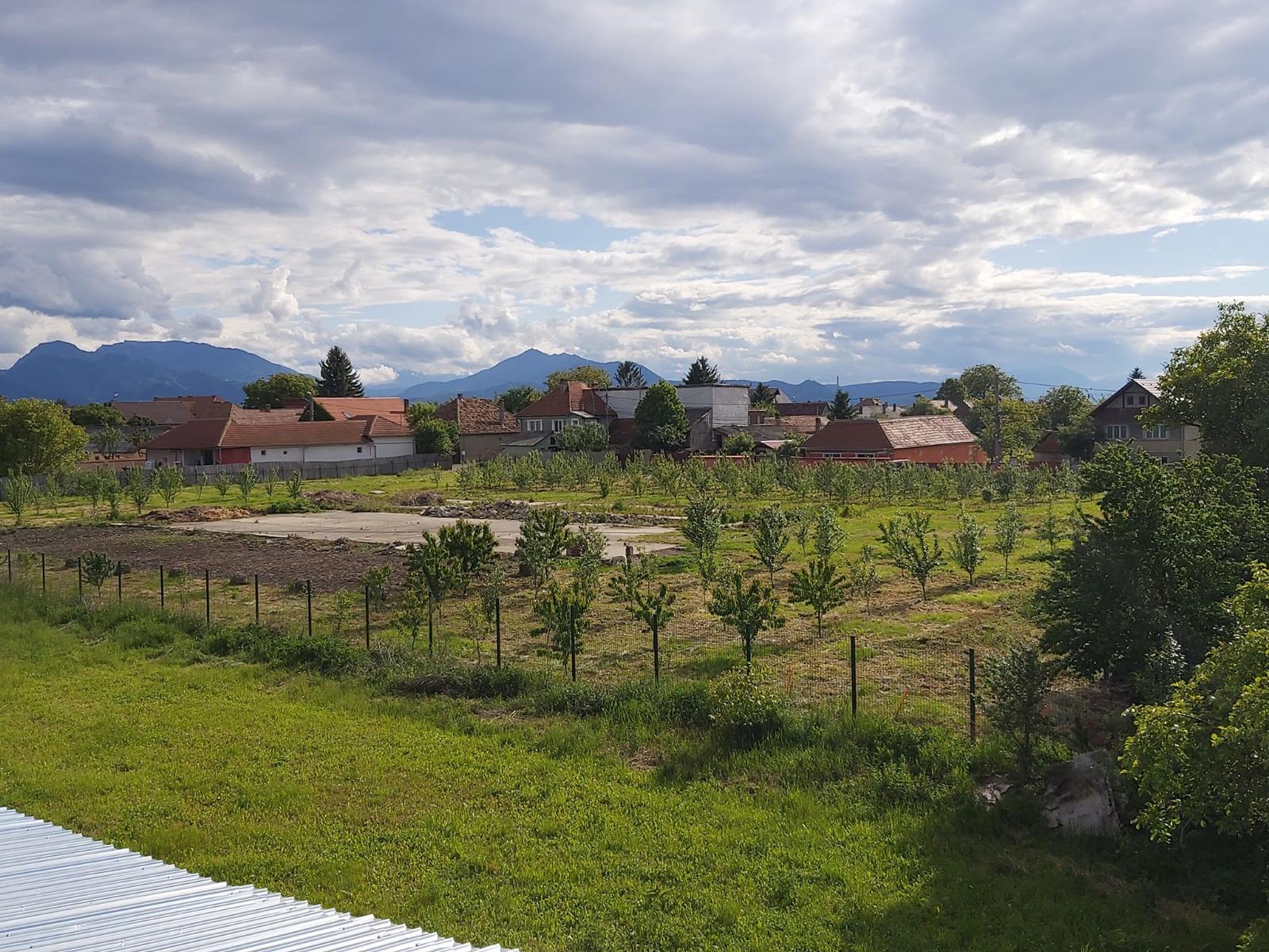 Terenul liceului agricol din Prejmer