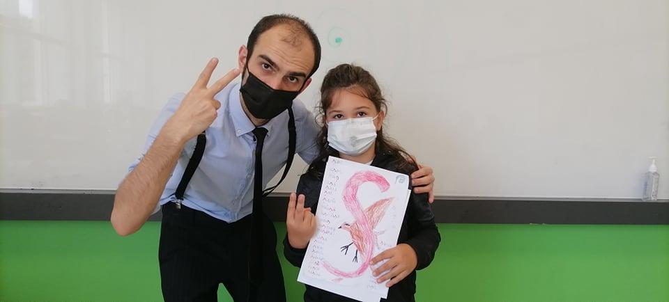 Armand Giurea cu o eleva