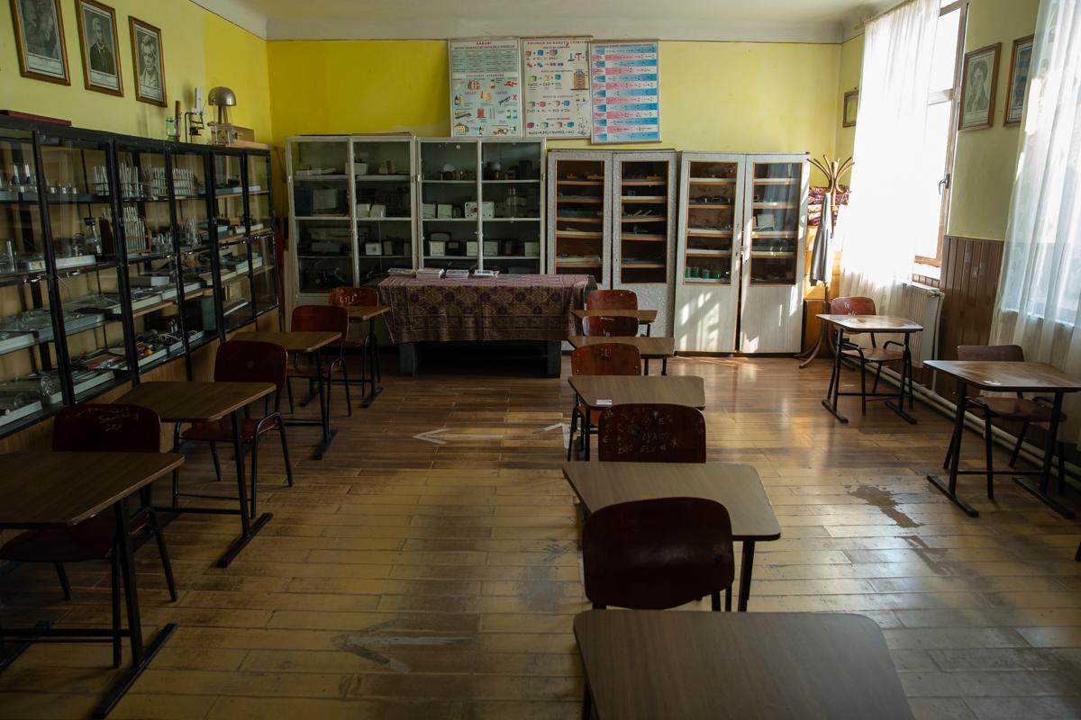 O sală de clasă goală
