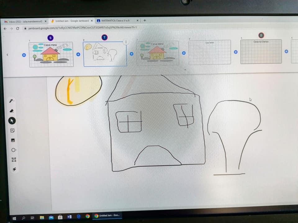 desene intr-un program educational pe calculator
